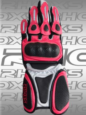 Guantes Racing rosa front_H