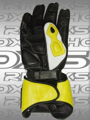 Guantes Racing Amarillo Back_H