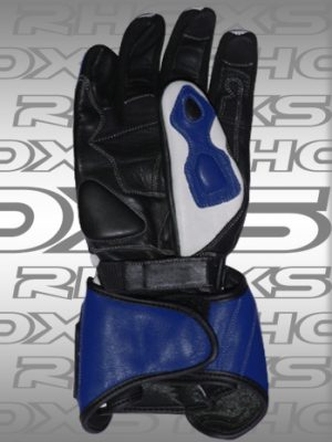 Guantes Racing azul Back_H
