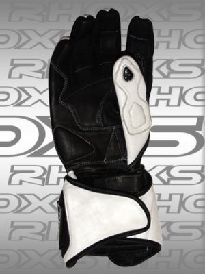 Guantes Racing blanco Back_H
