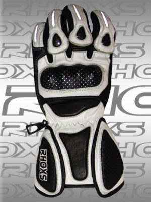 Guantes Racing blanco Front_H